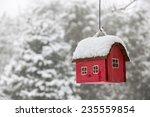 Red Bird House Hanging Outdoor...