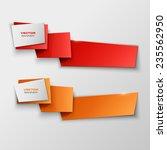 origami paper infographic... | Shutterstock .eps vector #235562950