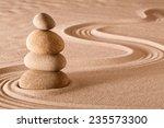 zen meditation garden stack of... | Shutterstock . vector #235573300