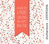vector holiday card with... | Shutterstock .eps vector #235592446
