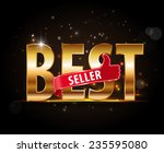 bestseller labels with thumbs... | Shutterstock .eps vector #235595080