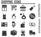 shopping icons | Shutterstock .eps vector #235598350