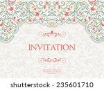 vintage greeting card ...   Shutterstock .eps vector #235601710