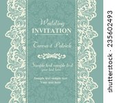 baroque wedding invitation card ... | Shutterstock .eps vector #235602493