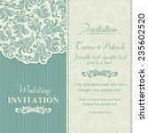 baroque wedding invitation card ... | Shutterstock .eps vector #235602520