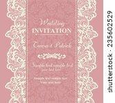 baroque wedding invitation card ... | Shutterstock .eps vector #235602529