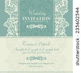 baroque wedding invitation card ... | Shutterstock .eps vector #235602544