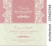 baroque wedding invitation card ... | Shutterstock .eps vector #235602568