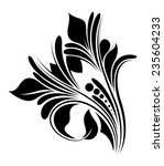 calligraphic floral design | Shutterstock .eps vector #235604233
