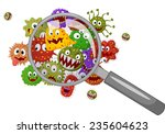 cartoon bacteria under a...   Shutterstock .eps vector #235604623