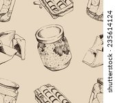 vector pattern sketch of... | Shutterstock .eps vector #235614124