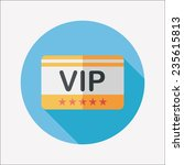 shopping vip card flat icon... | Shutterstock .eps vector #235615813
