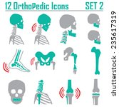 12 orthopedic and spine symbol... | Shutterstock .eps vector #235617319