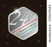 24th anniversary   classy and... | Shutterstock .eps vector #235619653