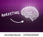 marketing brain background... | Shutterstock . vector #235620460
