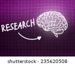 research brain background... | Shutterstock . vector #235620508