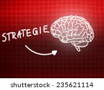 strategie brain background... | Shutterstock . vector #235621114