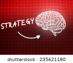 strategy brain background... | Shutterstock . vector #235621180