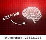 creative brain background... | Shutterstock . vector #235621198