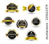 set of sale labels  golden... | Shutterstock .eps vector #235621579