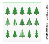 christmas trees collection. set ... | Shutterstock . vector #235622158