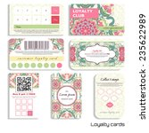 set of loyalty cards. beautiful ... | Shutterstock .eps vector #235622989