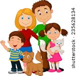 happy family | Shutterstock .eps vector #235628134