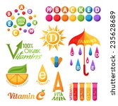 vitamins symbols  emblems and... | Shutterstock .eps vector #235628689