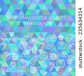christmas seamless border.... | Shutterstock .eps vector #235634314