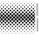seamless monochrome square... | Shutterstock .eps vector #235635340