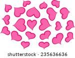 vector hearts | Shutterstock .eps vector #235636636