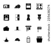 kitchen silhouettes icons set... | Shutterstock .eps vector #235638274