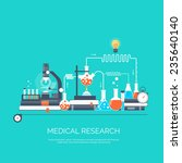 medical flat vector background... | Shutterstock .eps vector #235640140