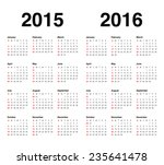 simple calendar for 2015 and... | Shutterstock .eps vector #235641478