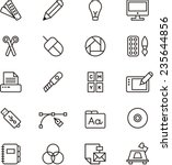 graphic design icon set | Shutterstock .eps vector #235644856