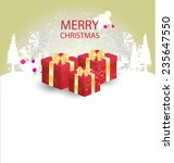 christmas greeting card. vector ... | Shutterstock .eps vector #235647550