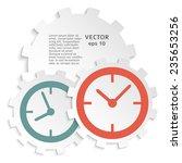 the clock idea poster. vector...