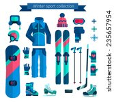 winter sports collection | Shutterstock .eps vector #235657954