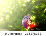 decorations on the christmas... | Shutterstock . vector #235676383