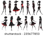 woman in fashion clothes for... | Shutterstock .eps vector #235677853