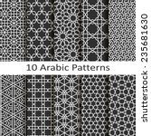 set of ten arabic patterns | Shutterstock .eps vector #235681630