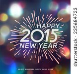 happy new year   message and... | Shutterstock .eps vector #235684723