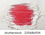 frame on flour background for... | Shutterstock . vector #235686934