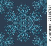 lace abstract seamless pattern... | Shutterstock .eps vector #235687834