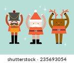 santa claus reindeer nutcracker