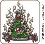 hand drawn eye of providence. | Shutterstock .eps vector #235694560