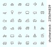 transport icons  simple and... | Shutterstock .eps vector #235694839