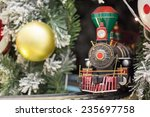 Miniature Train With Christams...