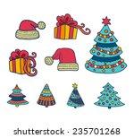 vector christmas set | Shutterstock .eps vector #235701268