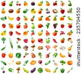 food. fruits  vegetables ... | Shutterstock . vector #235704550